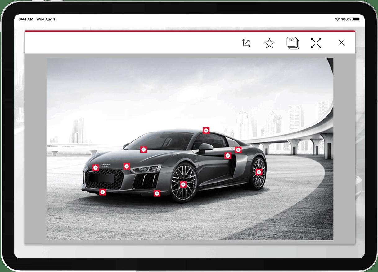 Audi Academy case study hotspot screenshot