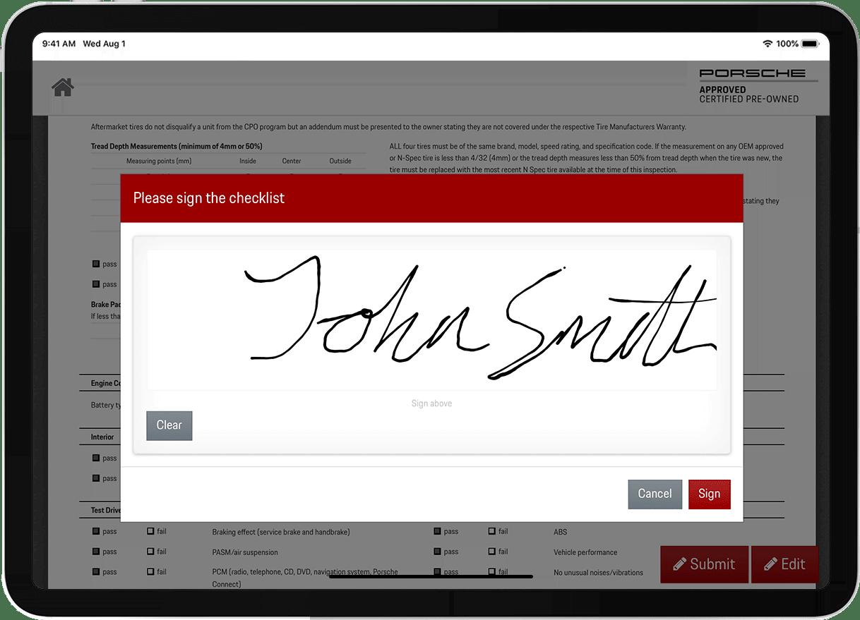 Porsche CPO case study signature screenshot