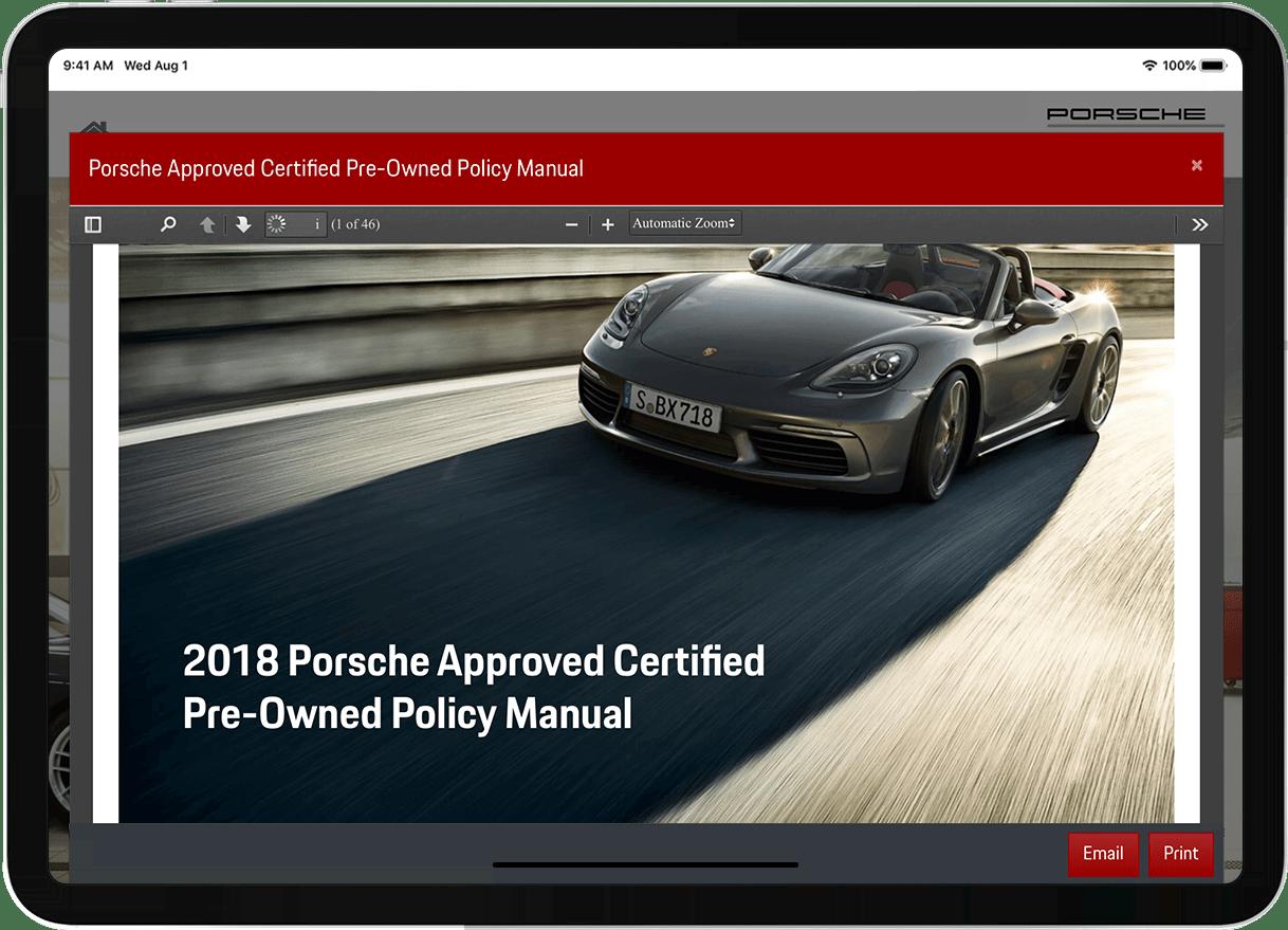 Porsche CPO case study pdf screenshot